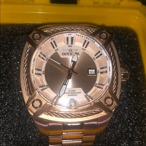 Men's Bolt Watch with Stainless Steel, Rose Gold